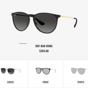 Custom Ray-Ban Erika sunglasses